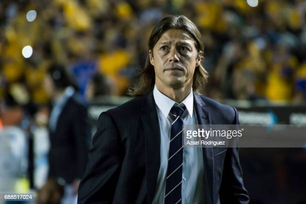 Matias Almeyda coach of Chivas is seen in the field prior the Final first leg match between Tigres UANL and Chivas as part of the Torneo Clausura...