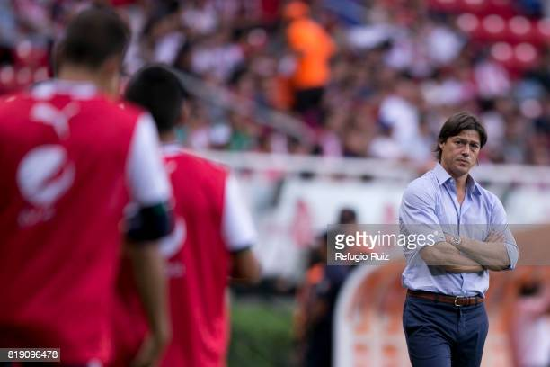 Matias Almeyda coach of Chivas looks on during the friendly match between Chivas and Porto at Chivas Stadium on July 19 2017 in Zapopan Mexico