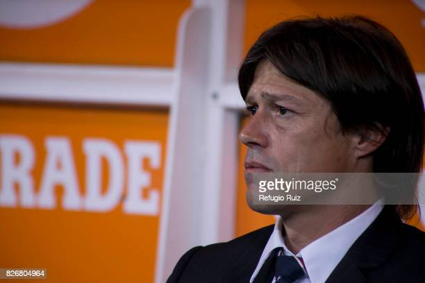 Matias Almeyda coach of Chivas looks on during the third round match between Chivas and Necaxa as part of the Torneo Apertura 2017 Liga MX at Chivas...