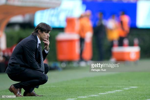 Matias Almeyda coach of Chivas watches the actions during the 1st round match between Chivas and Toluca as part of the Torneo Apertura 2017 Liga MX...
