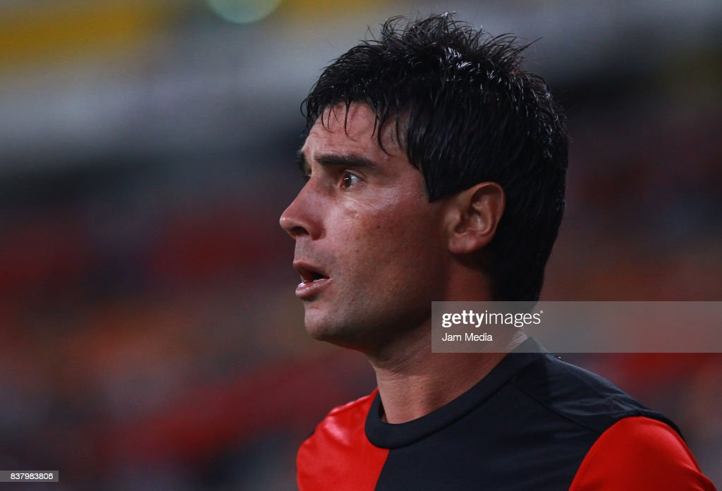 Matias Alustiza of Atlas looks on during the 6th round match between Atlas and Lobos BUAP as part of the Torneo Apertura 2017 Liga MX at Jalisco Stadium on August 22, 2017 in Guadalajara, Mexico.