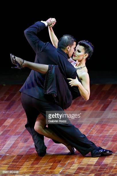 Matias Casali and Talia Gorla of Argentina dance during the Stage Tango Final as part of Buenos Aires Tango Festival World Championship 2016 at Luna...