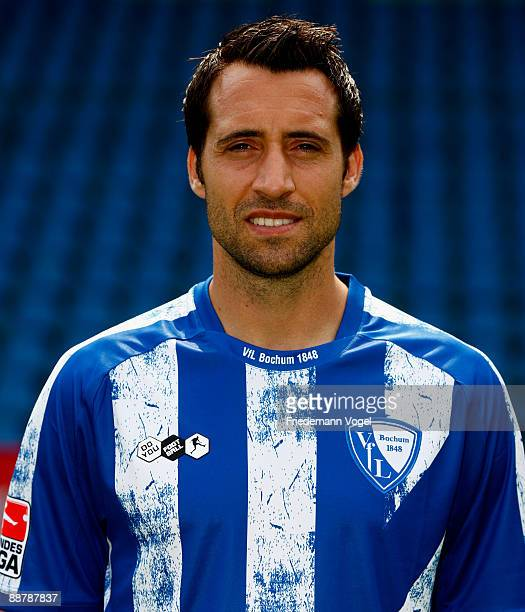 Matias Concha poses during the VfL Bochum team presentation at the rewirpower stadium on June 29 2009 in Bochum Germany