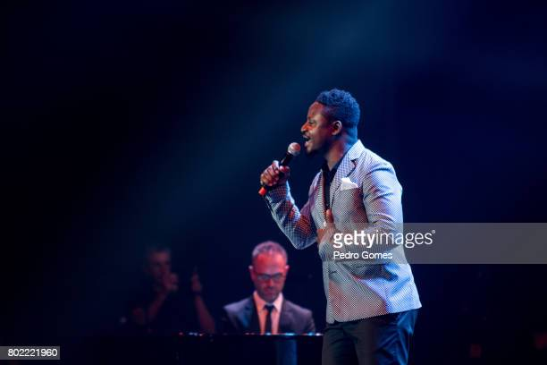 Matias Damasio performs at Juntos por Todos solidarity concert for the victims of the forest fires in Pedrogao Grande region Portugal on June 27 2017...