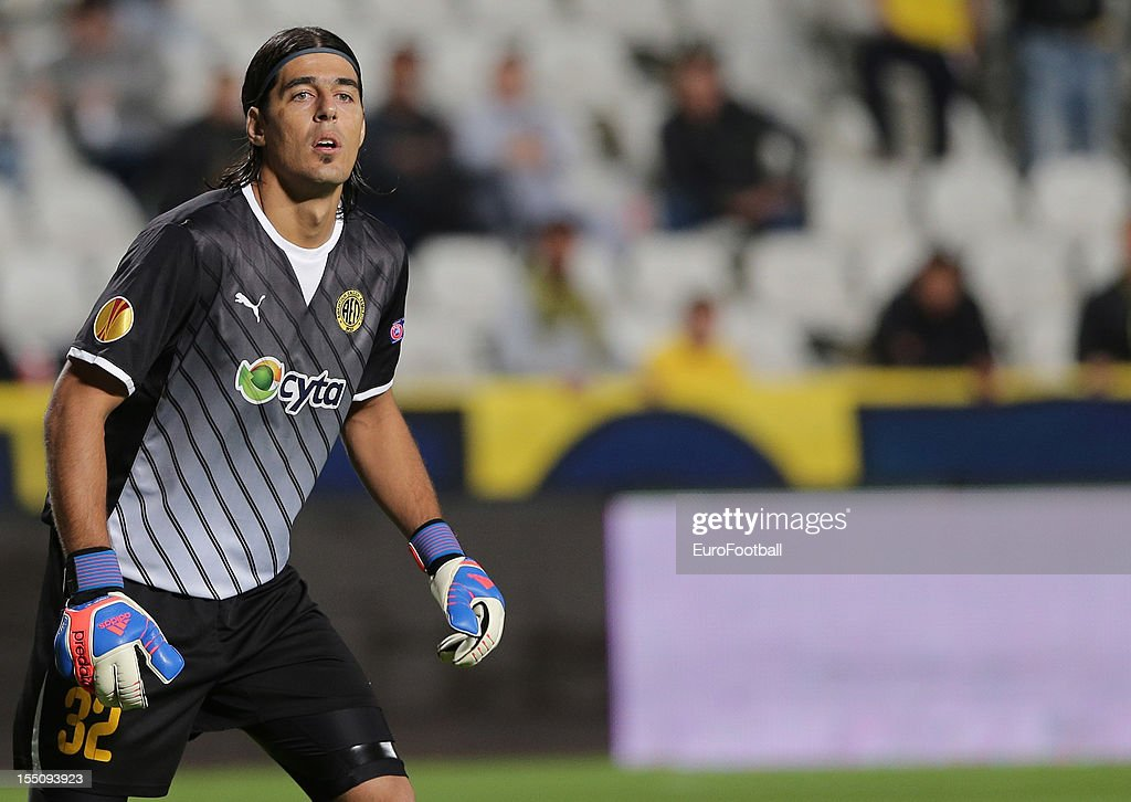 Matias Degra of AEL Limassol FC in action during the UEFA Europa League group stage match between AEL Limassol FC and Fenerbahce SK held on October 25, 2012 at the GSP Stadium, in Nicosia, Cyprus.