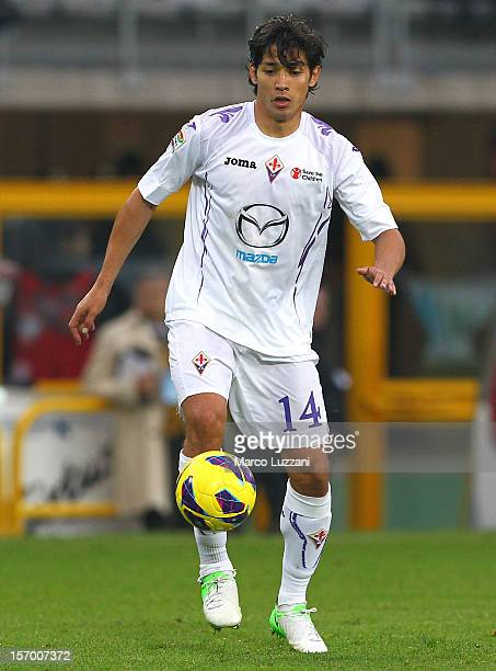 Matias Fernandez of ACF Fiorentina in action during the Serie A match between Torino FC and ACF Fiorentina at Stadio Olimpico di Torino on November...