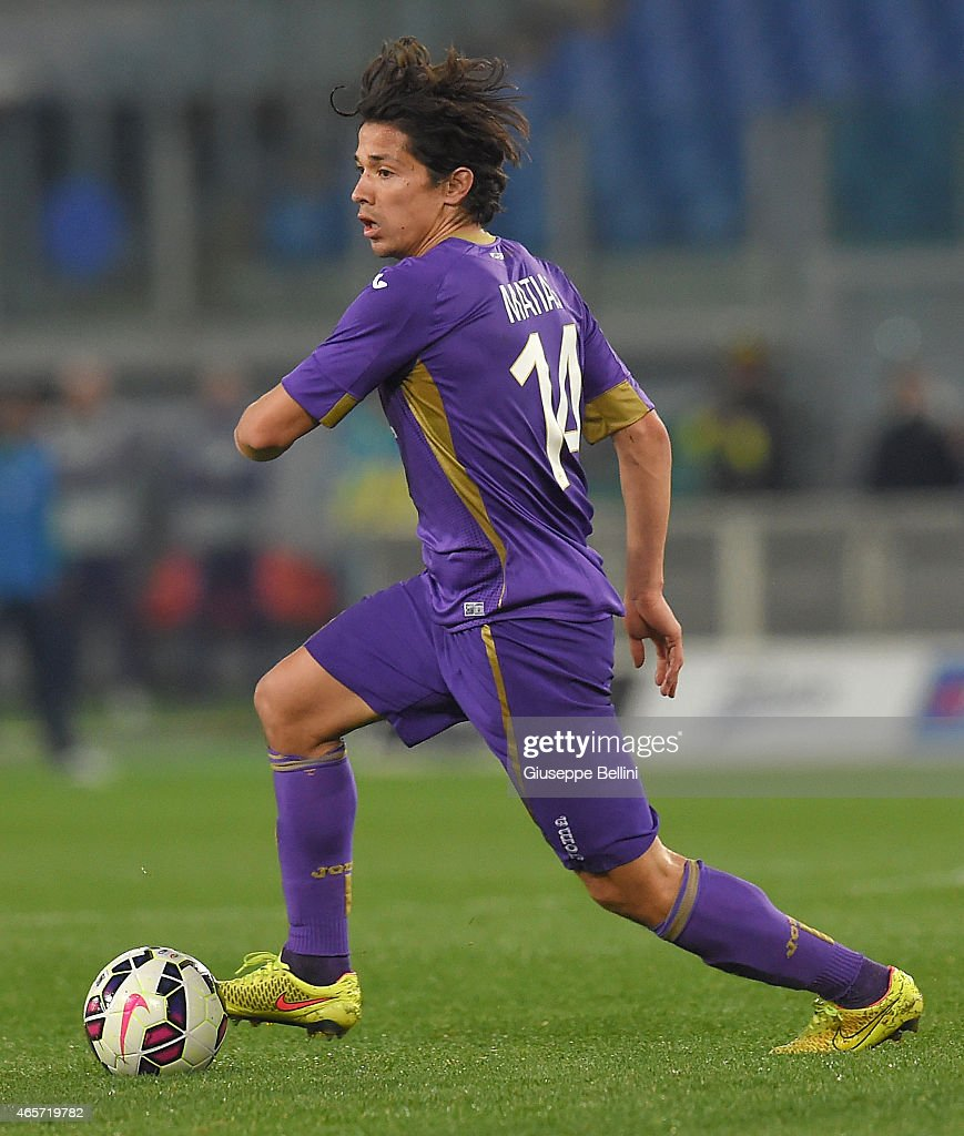 Matias Fernandez of ACF Fiorentina in action during the Serie A match between SS Lazio and ACF Fiorentina at Stadio Olimpico on March 9 2015 in Rome...