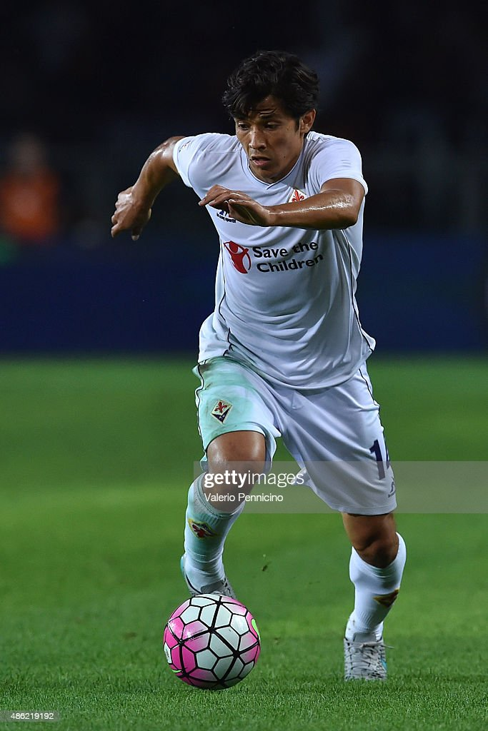 Matias Fernandez of ACF Fiorentina in action during the Serie A match between Torino FC and ACF Fiorentina at Stadio Olimpico di Torino on August 30...