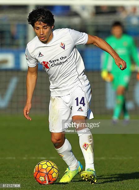 Matias Fernandez of ACF Fiorentina in action during the Serie A match between Atalanta BC and ACF Fiorentina at Stadio Atleti Azzurri d'Italia on...