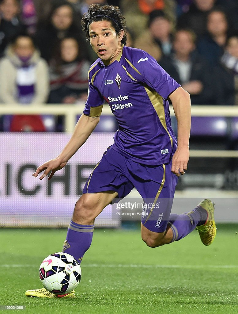 Matias Fernandez of ACF Fiorentina in action during the TIM cup match between ACF Fiorentina and Juventus FC at Artemio Franchi on April 7 2015 in...