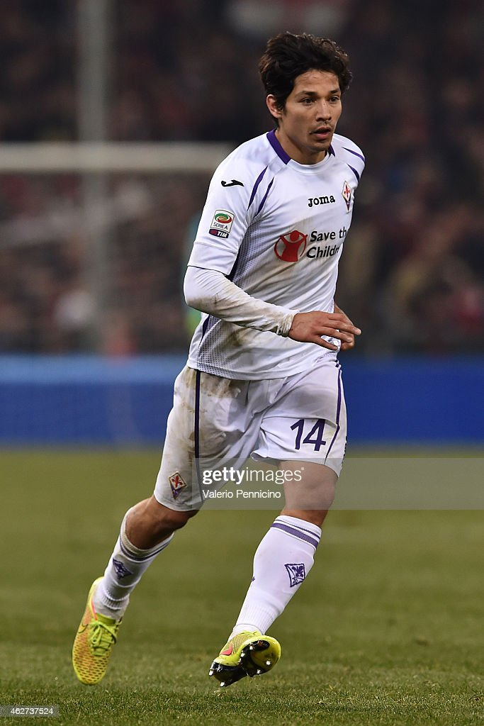 Matias Fernandez of ACF Fiorentina looks on during the Serie A match between Genoa CFC and ACF Fiorentina at Stadio Luigi Ferraris on January 31 2015...