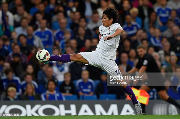 Matias Fernandez of Fiorentina in action during a Pre Season Friendly between Chelsea and Fiorentina at Stamford Bridge on August 5 2015 in London...