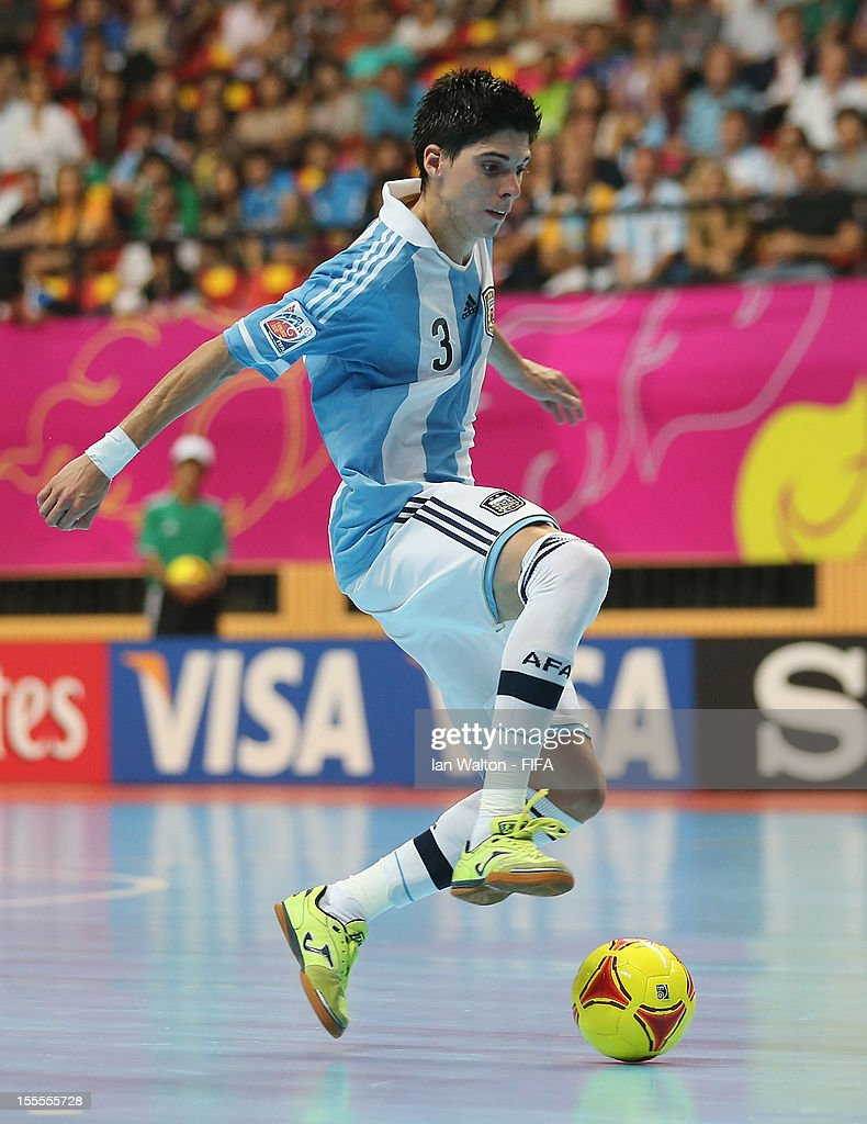 Matias Lucuix of Argentina in action during the FIFA Futsal World Cup Thailand 2012, Group D match between Argentina and Italy at Nimibutr Stadium on November 5, 2012 in Bangkok, Thailand.
