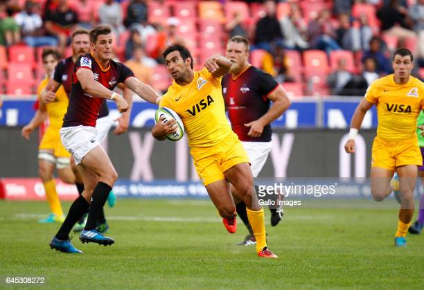 Matias Orlando of the Jaguares during the Super Rugby match between Southern Kings and Jaguares at Nelson Mandela Bay Stadium on February 25 2017 in...