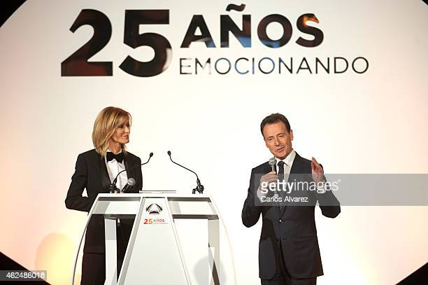 Matias Prats and Susana Griso attend Antena 3 TV Channel 25th anniversary party at the Palacio de Cibeles on January 29 2015 in Madrid Spain