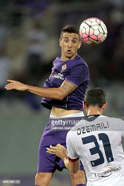 Matias Vecino of ACF Fiorentina in action during the Serie A match between ACF Fiorentina and Genoa CFC at Stadio Artemio Franchi on September 12...