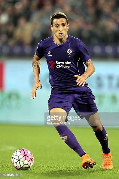 Matias Vecino of ACF Fiorentina in action during the Serie A match between ACF Fiorentina and Atalanta BC at Stadio Artemio Franchi on October 4 2015...
