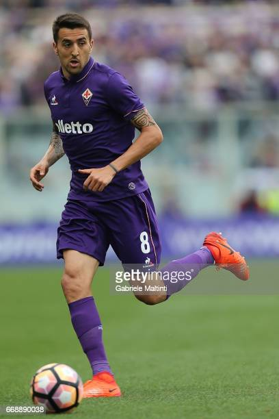 Matias Vecino of ACF Fiorentina in action during the Serie A match between ACF Fiorentina and Empoli FC at Stadio Artemio Franchi on April 15 2017 in...