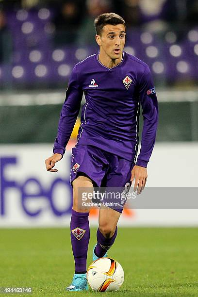 Matias Vecino of ACF Fiorentina in action during the UEFA Europa League group I match between ACF Fiorentina and KKS Lech Poznan on October 22 2015...