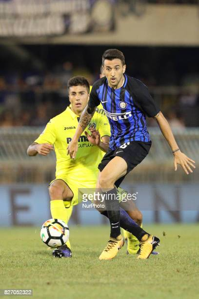 Matias Vecino of FC Internazionale compete for the ball during the PreSeason 2017/2018 International Friendly FC Internazionale v Villareal CF at...