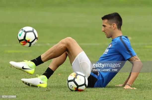 Matias Vecino of FC Internazionale controls the ball during the FC Internazionale training session at the club's training ground Suning Training...