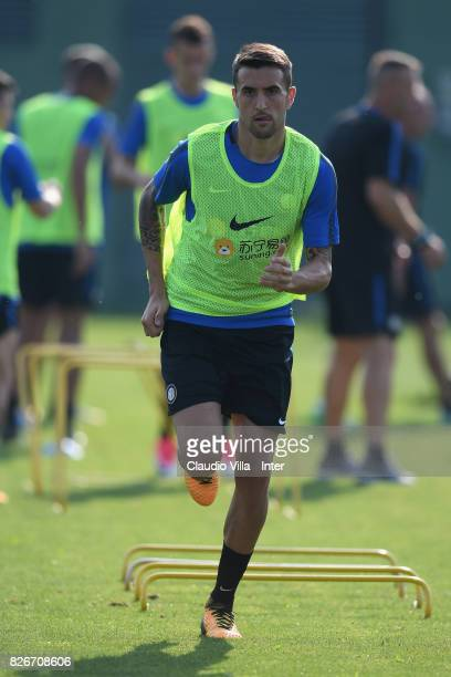 Matias Vecino of FC Internazionale in action during a training session at Suning Training Center at Appiano Gentile on August 2 2017 in Como Italy