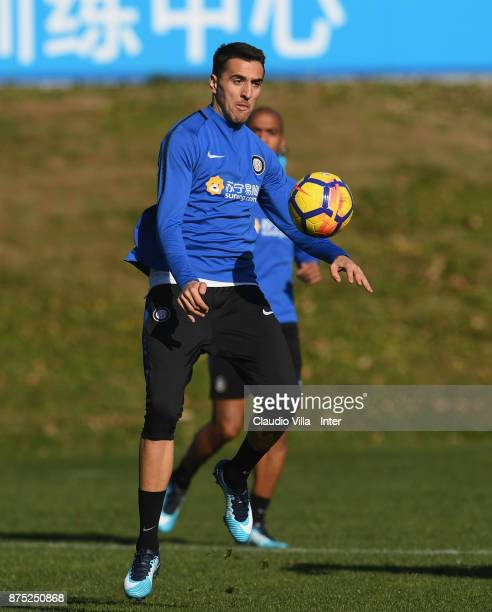 Matias Vecino of FC Internazionale in action during the FC Internazionale training session at Suning Training Center at Appiano Gentile on November...
