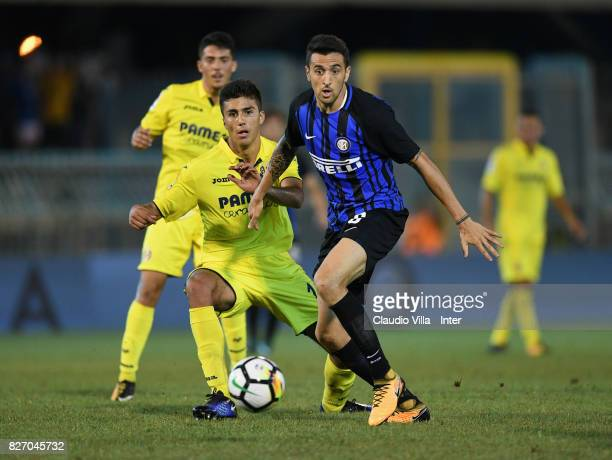 Matias Vecino of FC Internazionale in action during the PreSeason Friendly match between FC Internazionale and Villareal CF at Stadio Riviera delle...