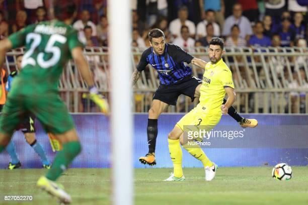 Matias Vecino of FC Internazionale in action during the PreSeason 2017/2018 International Friendly FC Internazionale v Villareal CF at Riviera delle...