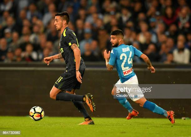 Matias Vecino of FC Internazionale in action during the Serie A match between SSC Napoli and FC Internazionale at Stadio San Paolo on October 21 2017...