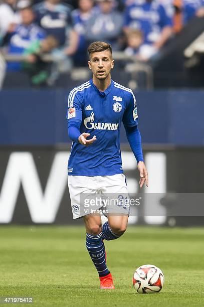 Matija Nastasic of Schalke 04 during the Bundesliga match between Schalke 04 and VfB Stuttgart on May 2 2015 at the Veltins Arena in Gelsenkirchen...