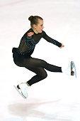 Matilda Algotsson of Sweden skates during the junior ladies short dance of the ISU Junior Grand Prix at Dom Sportova on October 8 2015 in Zagreb...