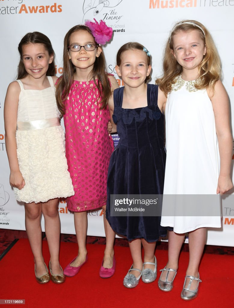Bailey Ryon, Oona Laurence, Bailey RyonSophia Gennusa, Milly Shapiro attends the 5th Annual National High School Musical Theater Awards at Minskoff Theatre on July 1, 2013 in New York City.