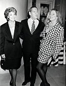 Matilda Cuomo Tony Randall Kathleen Turner during National Actors Theater Founders Performance of the 'Crucible' at the Belasco Theater at Belasco...