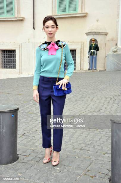 Matilda De Angelis arrives at the 61 David Di Donatello nominees presentation at Palazzo del Quirinale on March 27 2017 in Rome Italy