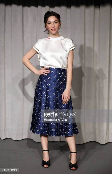 Matilda De Angelis attend a photocall for 'Tutto Puo' Succedere' at Rai Via Asiago on April 11 2017 in Rome Italy