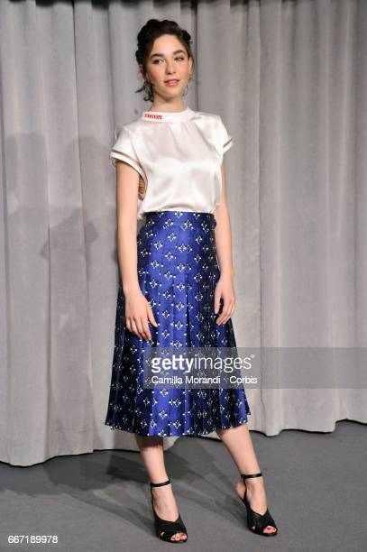 Matilda De Angelis attends a photocall for 'Tutto Puo' Succedere' on April 11 2017 in Rome Italy