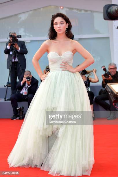 Matilda De Angelis walks the red carpet ahead of the 'Una Famiglia' screening during the 74th Venice Film Festival at Sala Grande on September 4 2017...