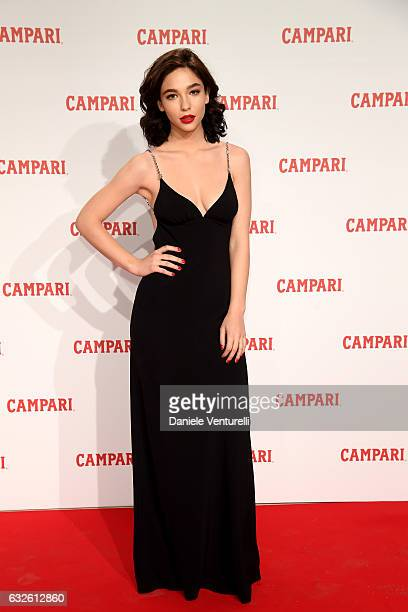 Matilda De Angelis walks the red carpet for 'Campari Red Diaries Killer In Red' on January 24 2017 in Rome Italy