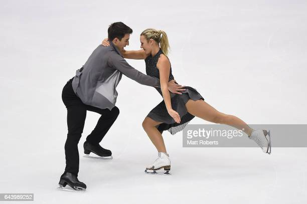 Matilda Friend and William Badaoui of Australia compete in the Ice Dance Figure Skating on day six of the 2017 Sapporo Asian Winter Games at...