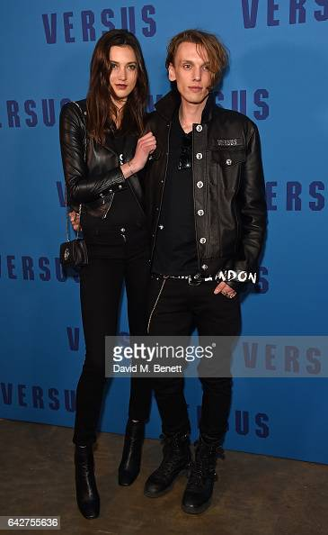 Matilda Lowther and Jamie Campbell Bower attend the VERSUS show during the London Fashion Week February 2017 collections on February 18 2017 in...