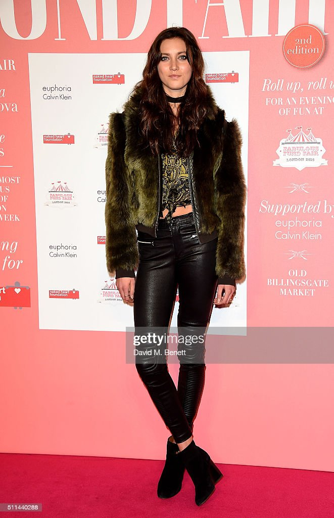 Matilda Lowther at The Naked Heart Foundation's Fabulous Fund Fair in London at Old Billingsgate Market on February 20 2016 in London England