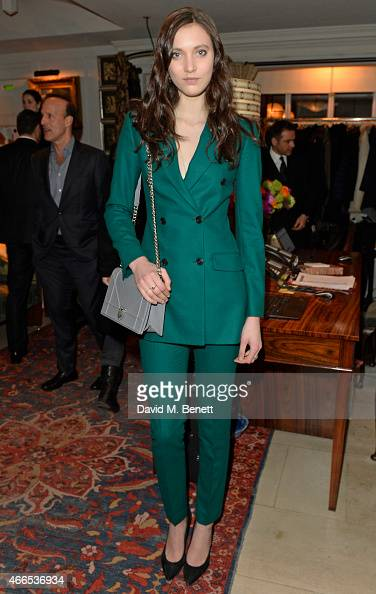 Matilda Lowther attends the 'Dior And I' UK Premiere after party at Loulou's on March 16 2015 in London England