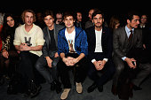 Matilda Lowther Jamie Campbell Bower Oliver Cheshire Douglas Booth Robert Konjic and David Gandy attend the Coach presentation at the London...