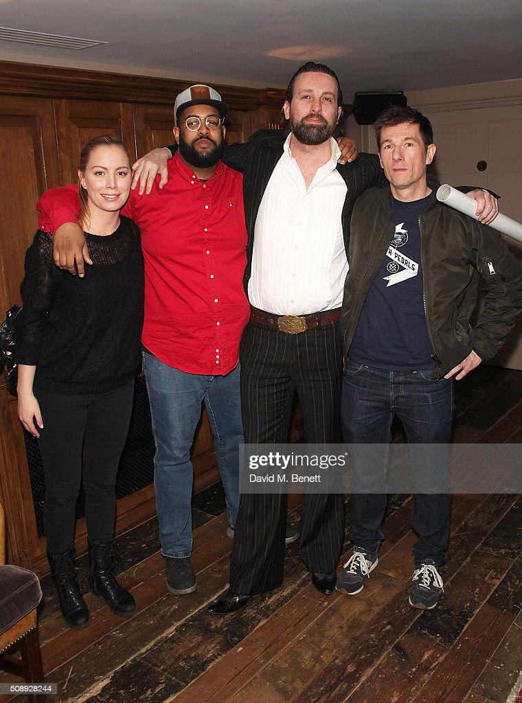 Matilda, Mahir Jamal, Patrick Brendan O'Neill and Sean Dower attends a special screening of 'The Uncountable Laughter of The Sea' at Soho House Dean Street on February 7, 2016 in London, England.