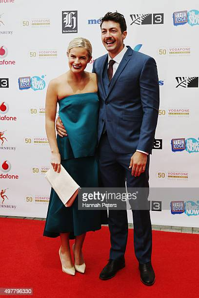 Matilda Rice and Arthur Green arrive at the Vodafone New Zealand Music Awards at Vector Arena on November 19 2015 in Auckland New Zealand