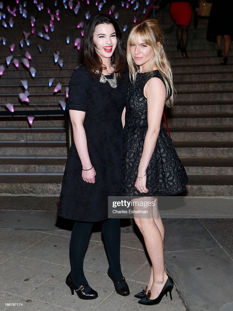 Matilda Sturridge and <a gi-track='captionPersonalityLinkClicked' href=/galleries/search?phrase=Sienna+Miller&family=editorial&specificpeople=171883 ng-click='$event.stopPropagation()'>Sienna Miller</a> attend the Vanity Fair Party during the 2013 Tribeca Film Festival at the State Supreme Courthouse on April 16, 2013 in New York City.