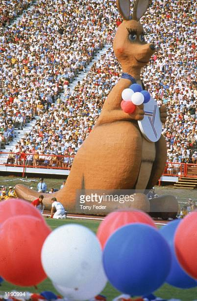 ''Matilda'' the giant kangaroo featured in the opening ceremony during the Commonwealth Games held in Brisbane Australia Mandatory Credit Tony...