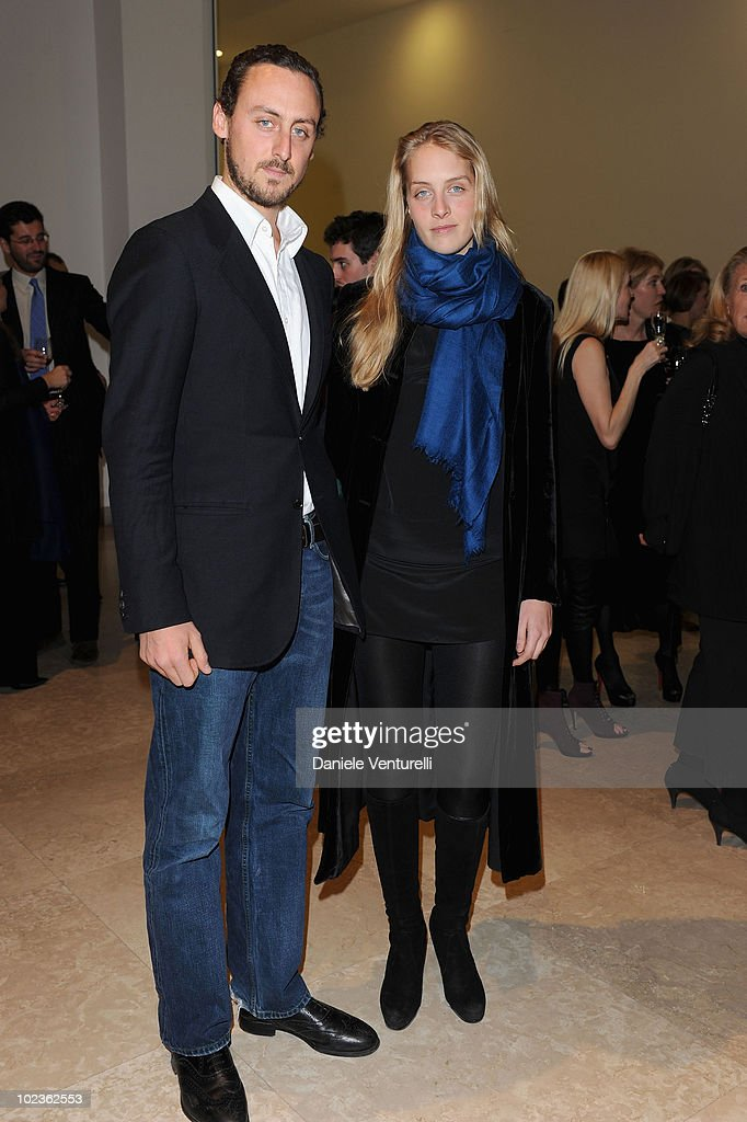 Matilde Borromeo and Gaetani D'Aragona attend the Salvatore Ferragamo 'Greta Garbo' exhibition at the Triennale Museum during Milan Fashion Week Womenswear A/W 2010 on February 27, 2010 in Milan, Italy.