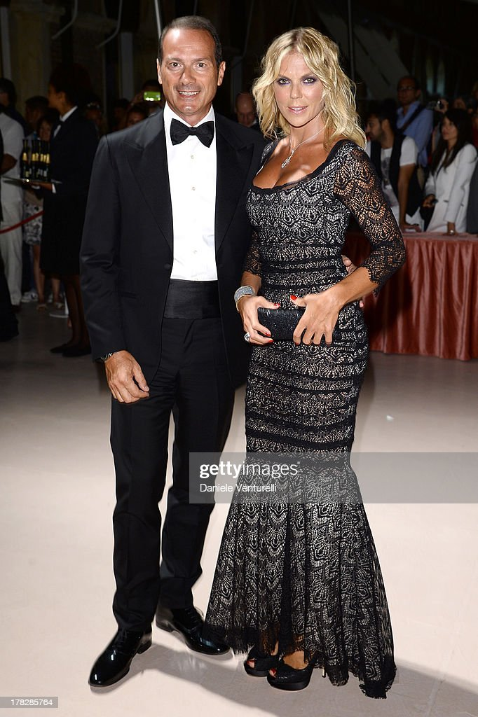 Matilde Brandi and Marco Costantini attend the Opening Ceremony during The 70th Venice International Film Festival on August 28, 2013 in Venice, Italy.